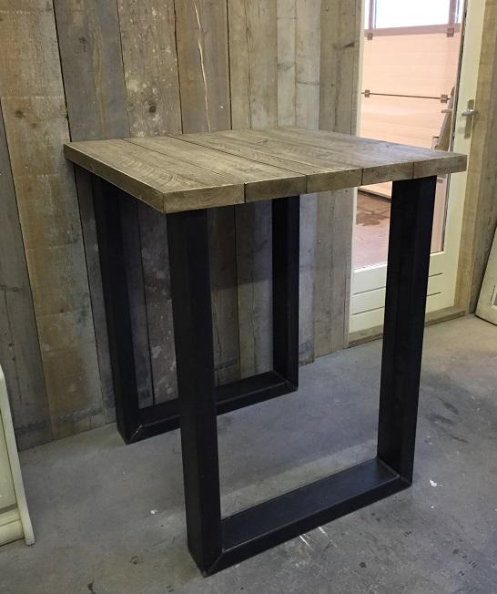 """hoge tafel """"eefje"""" stalen u-poten / balken 90 cm breed – hillshome"""