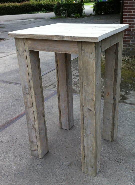 "Spiksplinternieuw Hoge tafel ""Jurre"" steigerhout onbehandeld 70 cm breed FX-78"