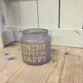 think happy be happy kaarsenhouder