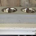 eetbak hond 8x37x20 grey wash