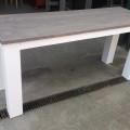 tafel stoer wit carbon wax 180x60x78