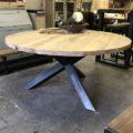 ronde tafel eiken staal 1.60m